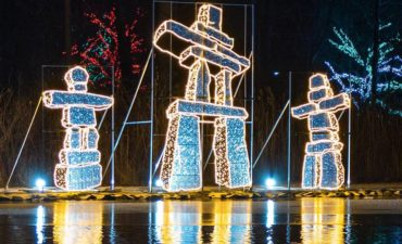 The Inukshuk at Winter Festival of Lights
