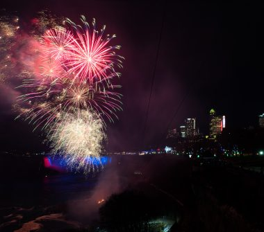Fireworks over the Canadian Horseshoe Falls