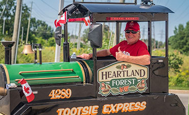 Tootsie Express train from Heartland Forest