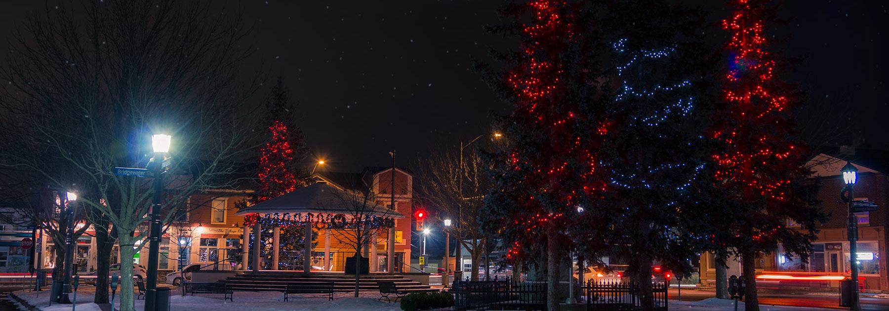 Lights in Cummington Square Chippawa Niagara Falls